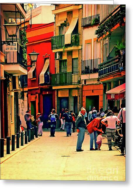 Greeting Card featuring the photograph Triana On A Sunday Afternoon 3 by Mary Machare