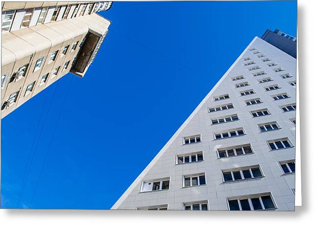 Triangle Modern Building Greeting Card
