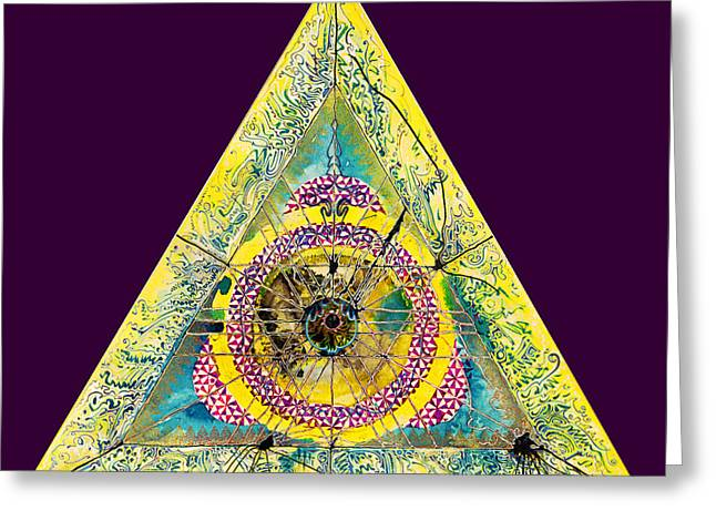 Triangle Triptych 2 Greeting Card by Tom Hefko