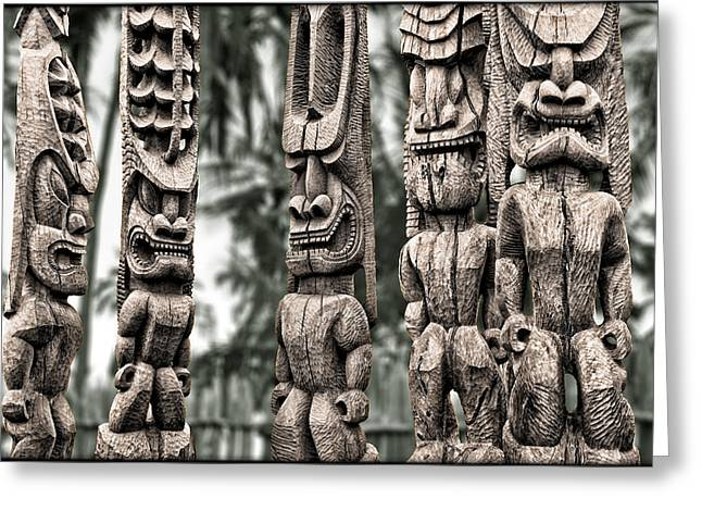 Tribal Council Greeting Card by Kelley King