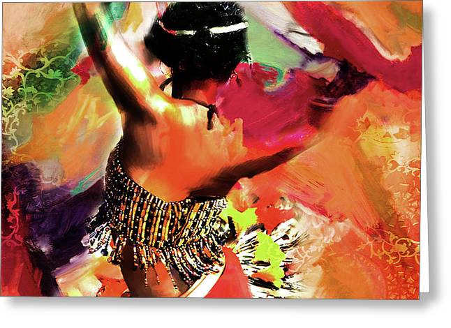 Tribal Dance 0321 Greeting Card by Gull G