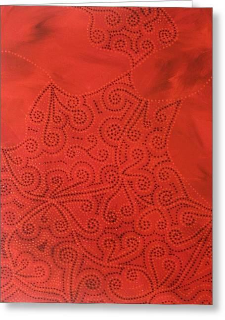 Tribal Dreams Greeting Card by Sophia Elise