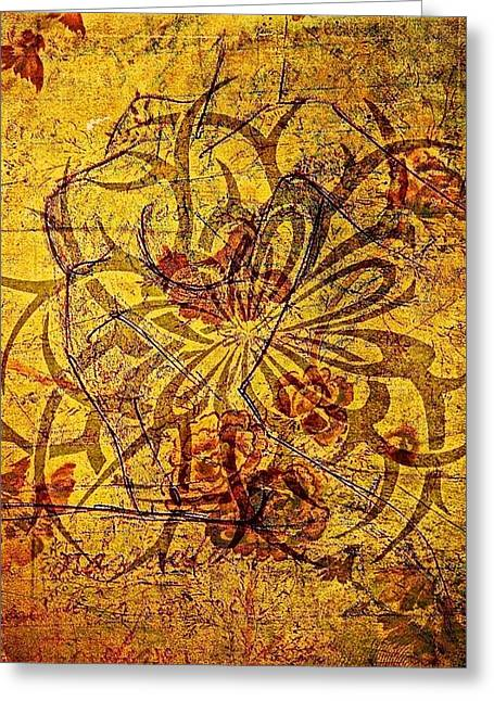 Tribal Flower Greeting Card
