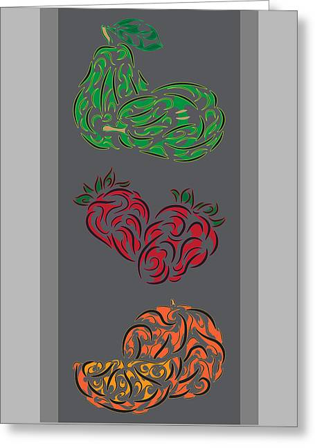 Tribal Fruit Series  Greeting Card