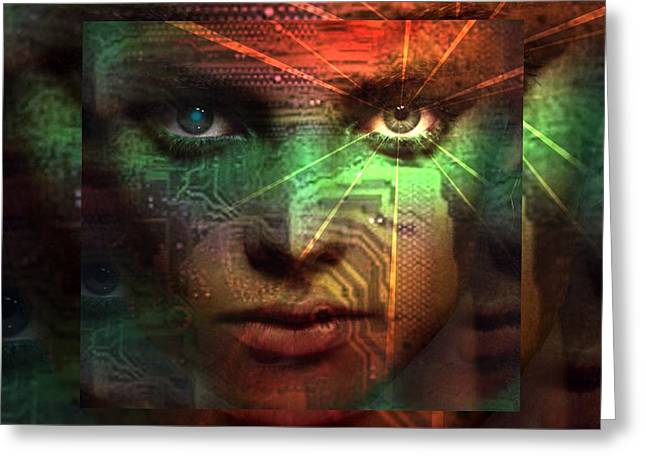 Greeting Card featuring the digital art Tribal Future by Shadowlea Is