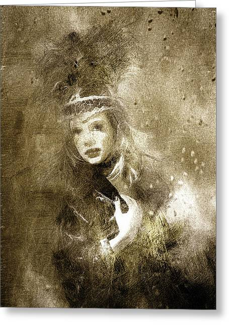 Tribal Girl In A Storm Greeting Card