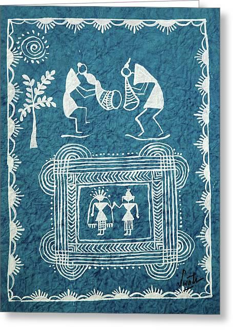 Tribal Gods Greeting Card by Swati Sharma