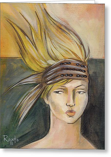 Tribal Greeting Card by Jacque Hudson