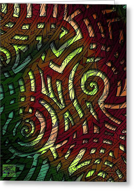 Tribal Jungle Greeting Card by Tawsh Lav