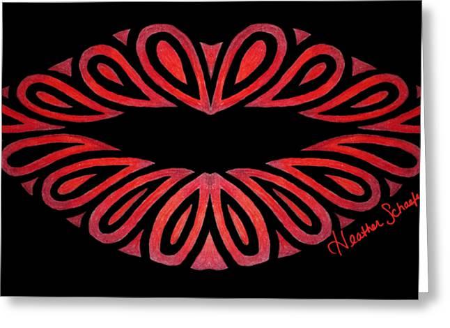Tribal Lips Greeting Card