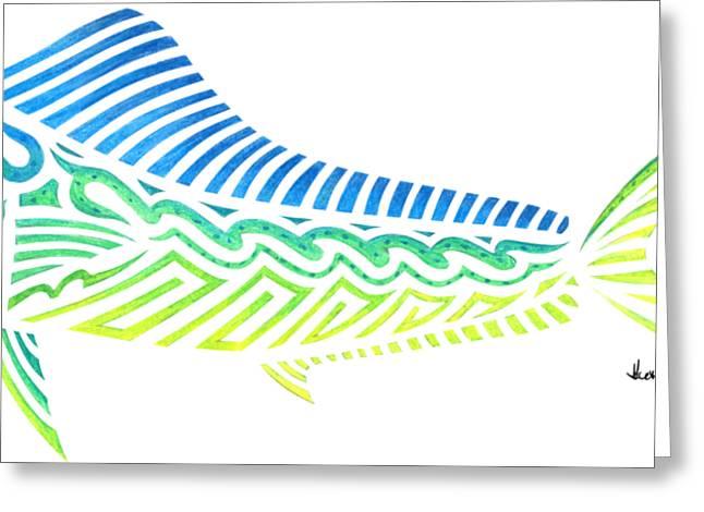 Tribal Mahi Mahi Greeting Card