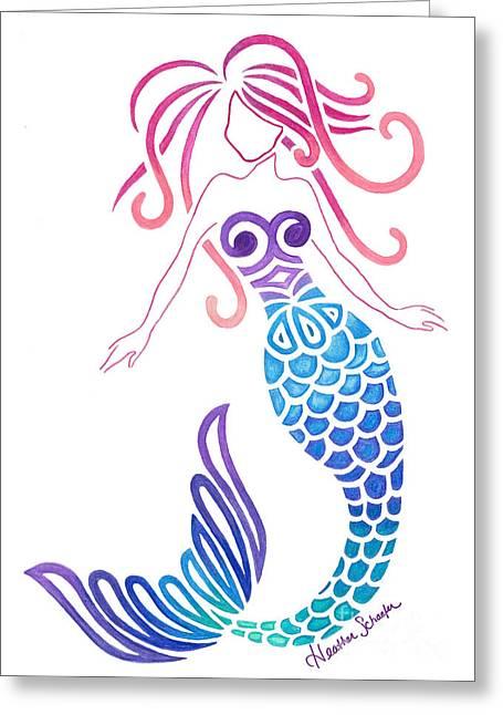 Tribal Mermaid Greeting Card