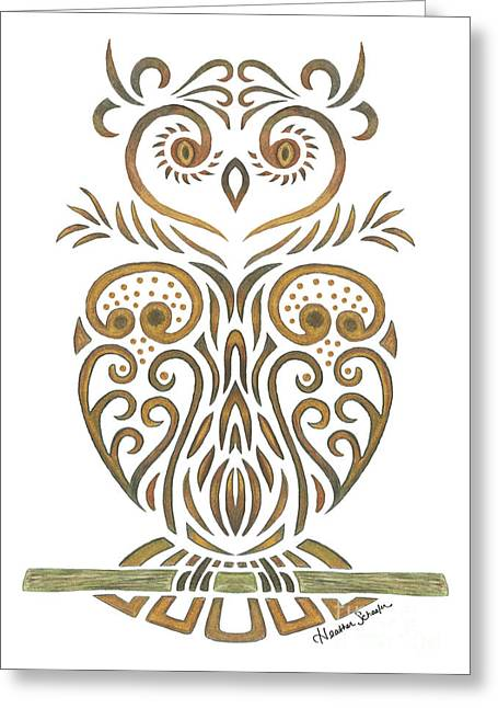 Tribal Owl Greeting Card