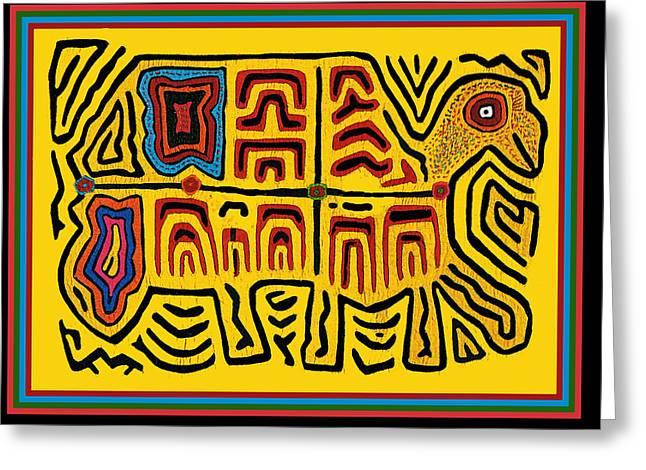 Tribal Turtle Spirit Greeting Card
