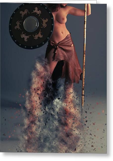 Tribal Warrior Greeting Card