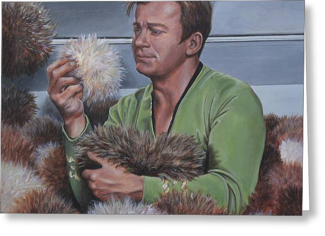 Greeting Card featuring the painting Tribble Trouble by Kim Lockman