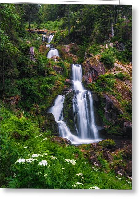 Triberg Waterfalls Greeting Card