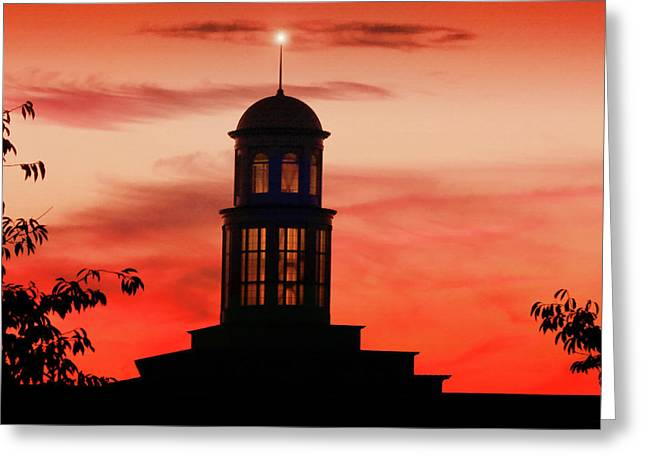 Trible Library Dome At Christopher Newport University Greeting Card
