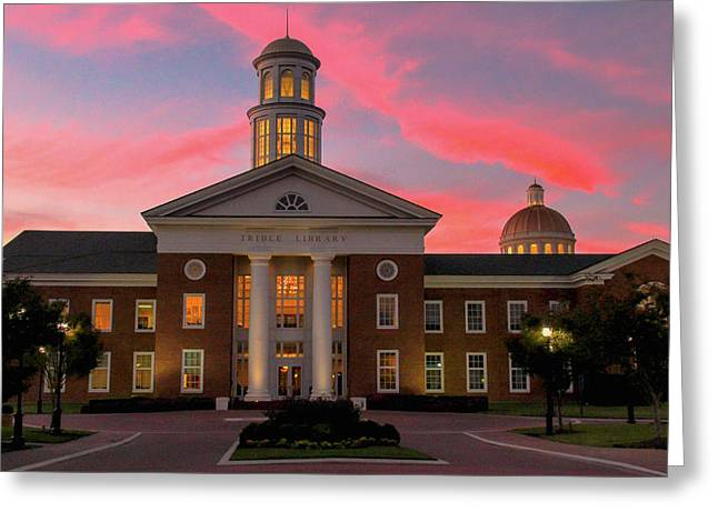 Trible Library Pastel Sunset Greeting Card