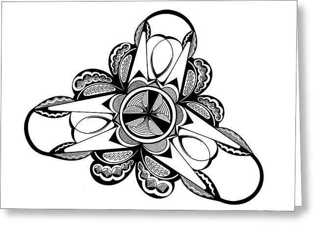 Tribolt, Black And White Greeting Card