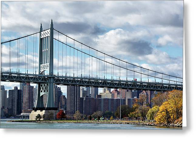 Triboro Bridge In Autumn Greeting Card