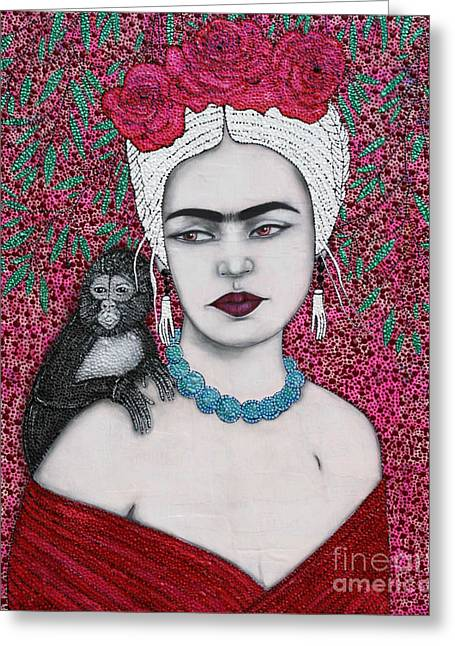 Greeting Card featuring the mixed media Tribute by Natalie Briney