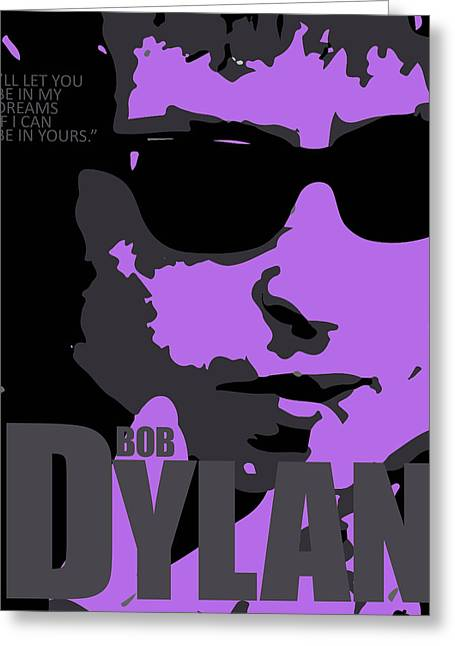 Tribute To Bob Dylan Greeting Card