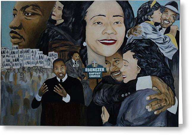 Tribute To Dr Martin Luther King Jr Greeting Card by Angelo Thomas