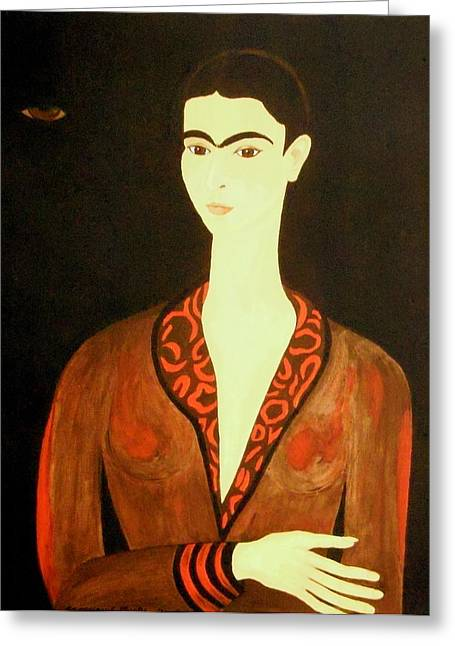 Greeting Card featuring the painting Tribute To Frida by Stephanie Moore