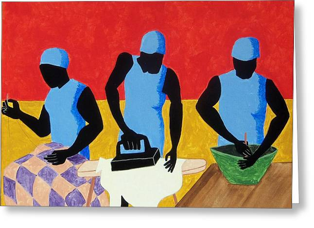 Tribute To Jacob Lawrence Greeting Card