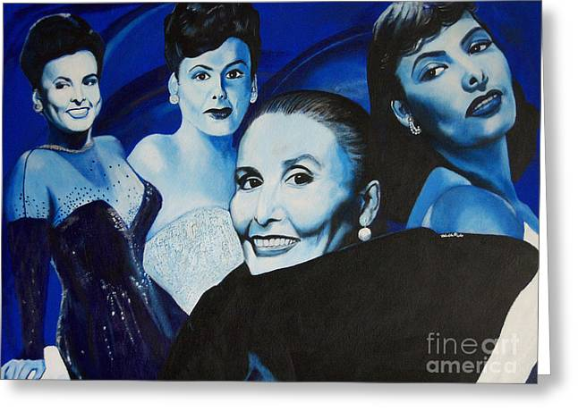 Tribute To Lena Horne Greeting Card