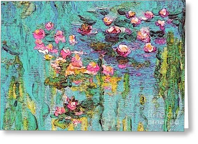 Tribute To Monet II Greeting Card