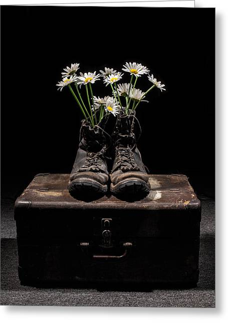 Greeting Card featuring the photograph Tribute To The Fallen by Aaron Aldrich