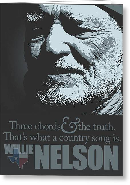 Tribute To Willie Nelson Greeting Card by Michael Lax