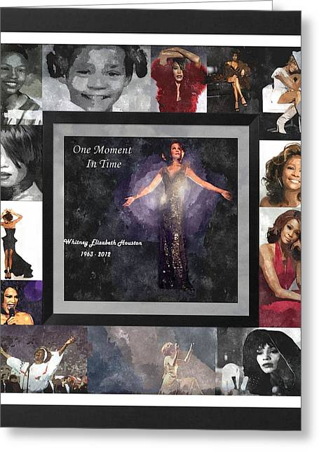 Tribute Whitney Houston One Moment In Time Greeting Card