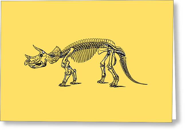 Triceratops Dinosaur Tee Greeting Card by Edward Fielding