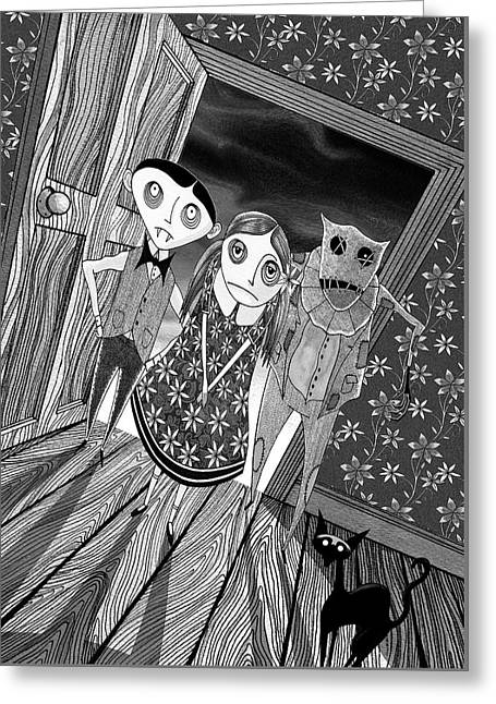 Trick Or Treat  Greeting Card by Andrew Hitchen