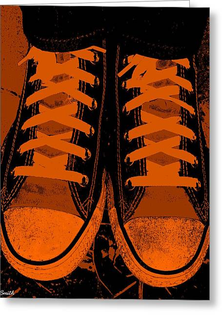 Trick Or Treat Feet Greeting Card by Ed Smith