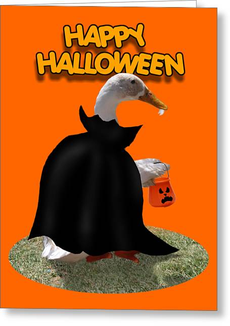 Trick Or Treat For Count Duckula Greeting Card by Gravityx9  Designs