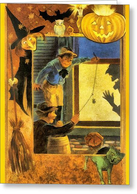 Trick Or Treat Greeting Card by Unknown
