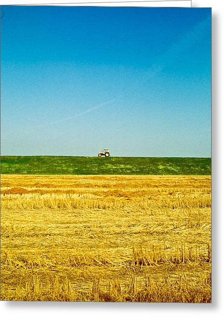 Tricolor With Tractor Greeting Card
