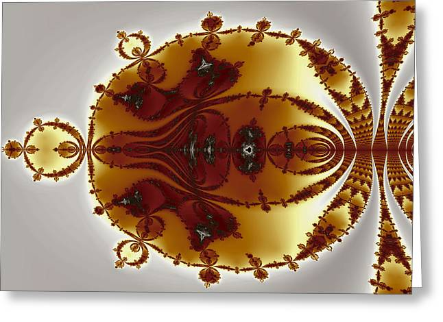Tricorns Mandelbrot Enclosed Greeting Card by Mark Eggleston