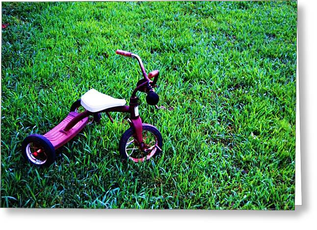 Tricycle Greeting Card by Beverly Hammond
