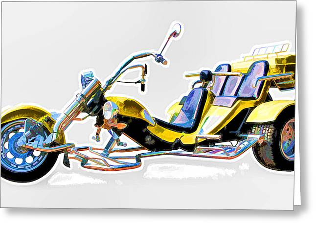 Tricycle Greeting Card by Lanjee Chee