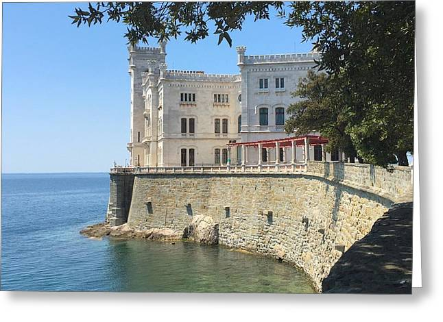 Trieste- Miramare Castle Greeting Card by Italian Art