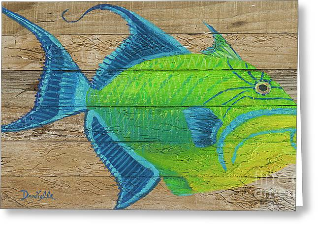 Triggerfish Greeting Card by Danielle Perry
