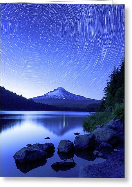 Trillium Dreamscape Greeting Card by Patrick Campbell