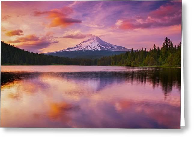 Trillium Lake Pastels Greeting Card by Darren White