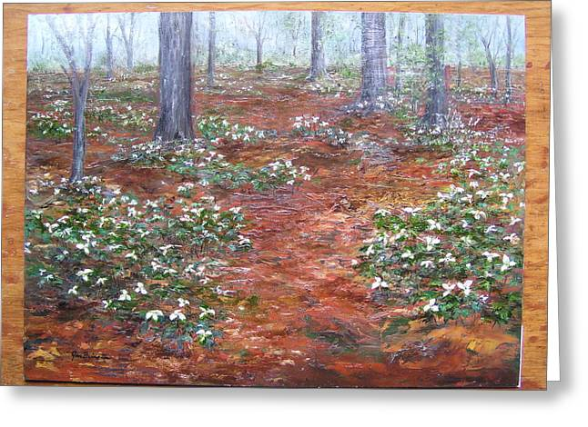 Trilliums After The Rain Greeting Card