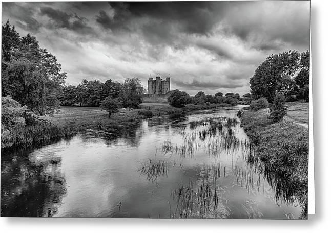Trim Castle And The River Boyne Greeting Card by Martina Fagan